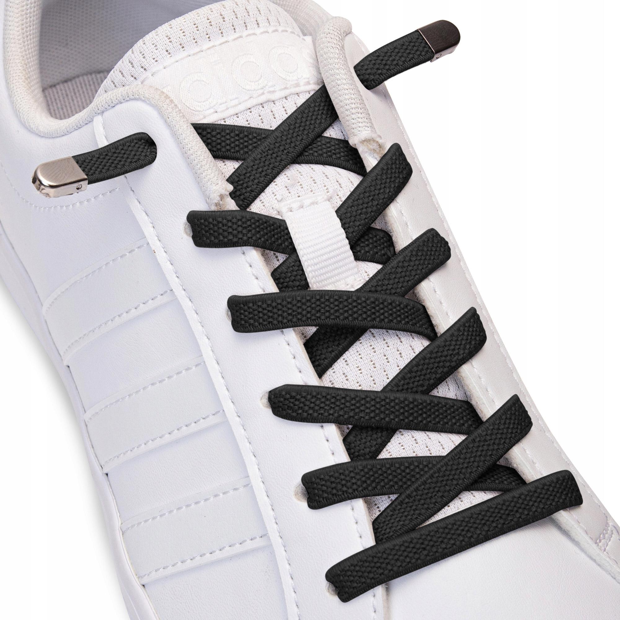 Плоские шнурки для обуви без завязывания цветов