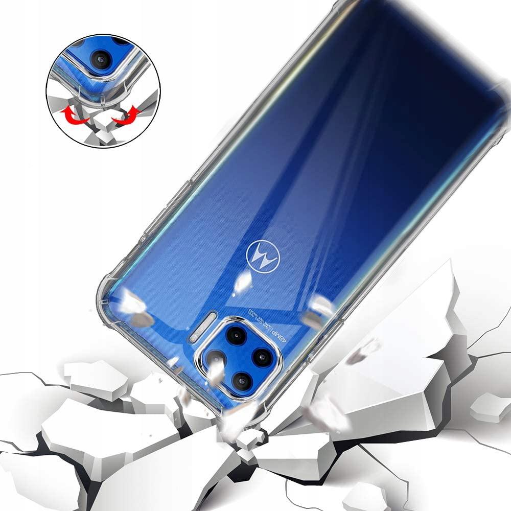 Etui do Motorola Moto G 5G Plus ANTI-SHOCK + Szkło Kolor bezbarwny
