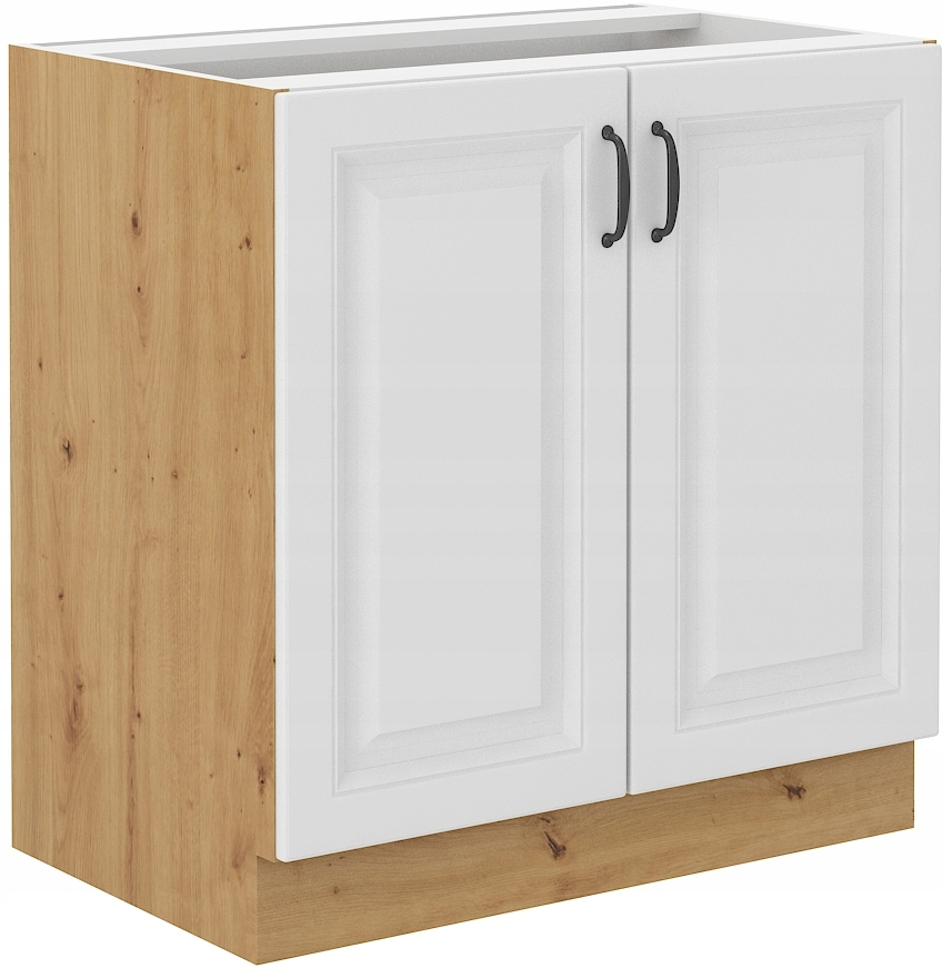 spodná kuchynská skrinka 80 cm remeselník + biela RETRO