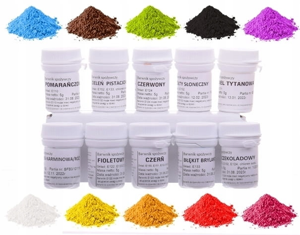 Item Food coloring Powder Set 10pcs Dye