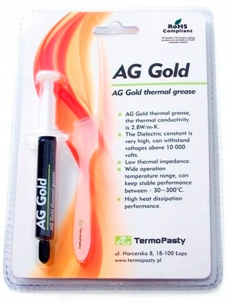 AG106.2 Паста теплообмена AG Gold 3g