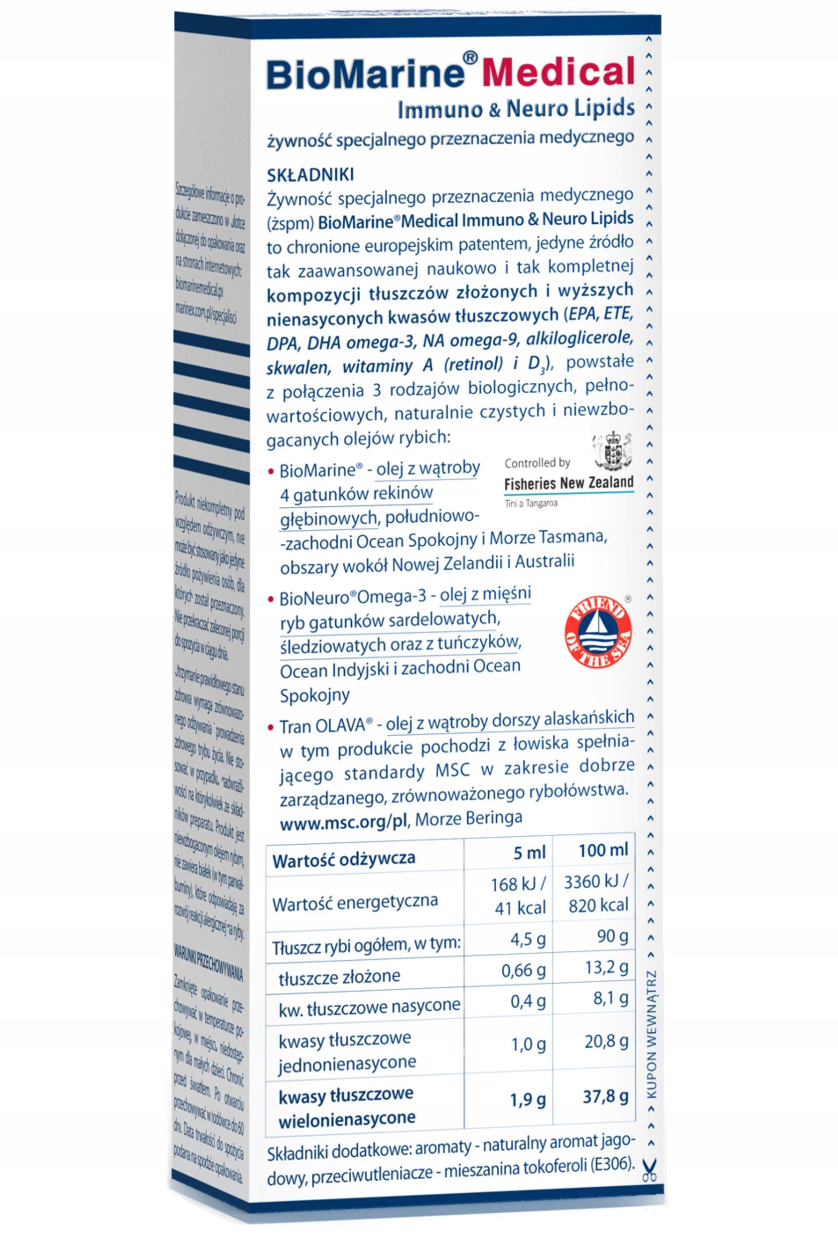 BIOMARINE Medical Tran OLEJ Z WĄTROBY REKINA 200ml Kod producenta 5903839934001