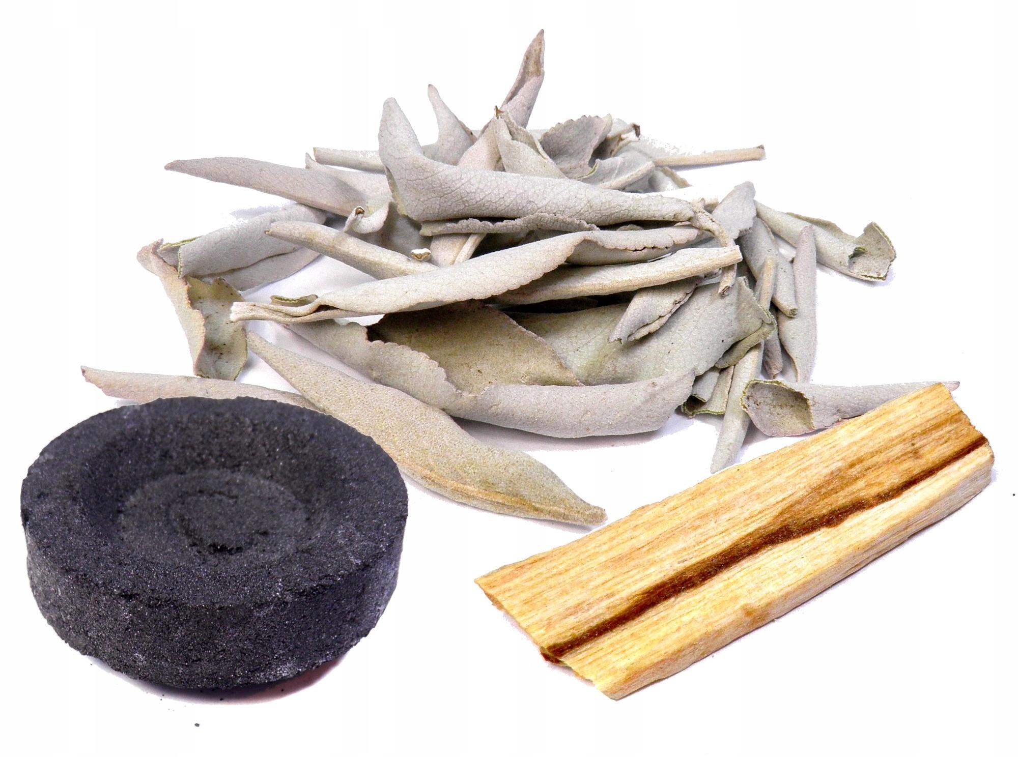 Белый шалфей, пало-санто, уголь НАБОР 3