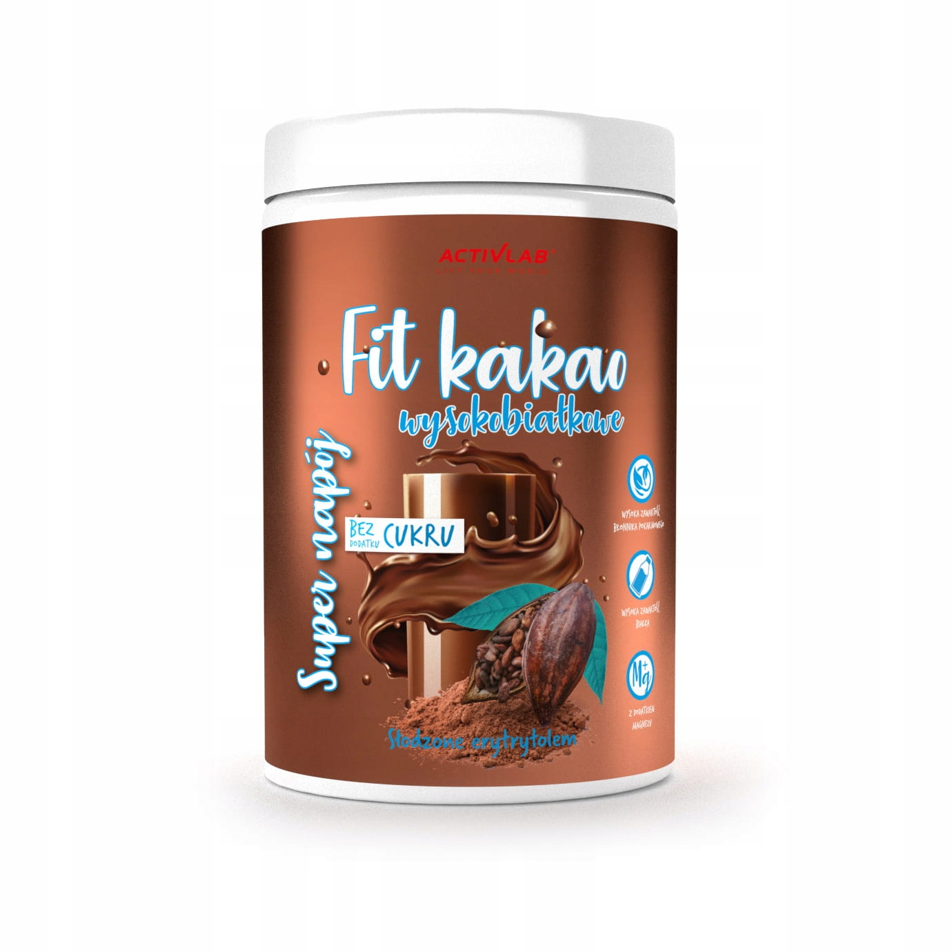Какао-напиток Super Fit 500 г, 36 ккал MAGNESIUM Activlab