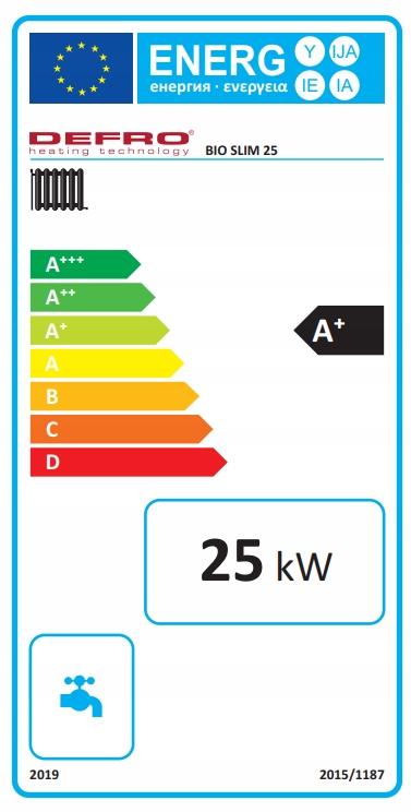 KOCIOŁ DEFRO BIO SLIM 25 kW ECODESIGN 5 KLASA Kod produktu KCO-BS-25