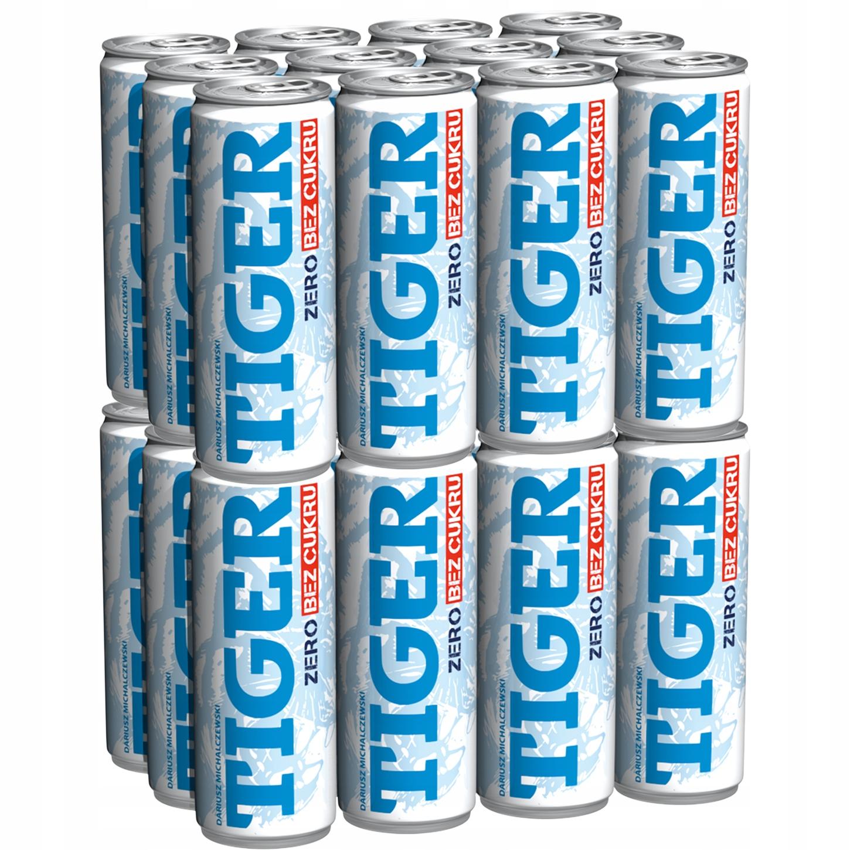 Энергетический напиток Tiger Zero Energy без сахара 24x250мл
