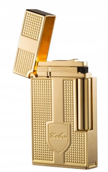 Cigaretový zapaľovač RETRO Mosadz Zlato