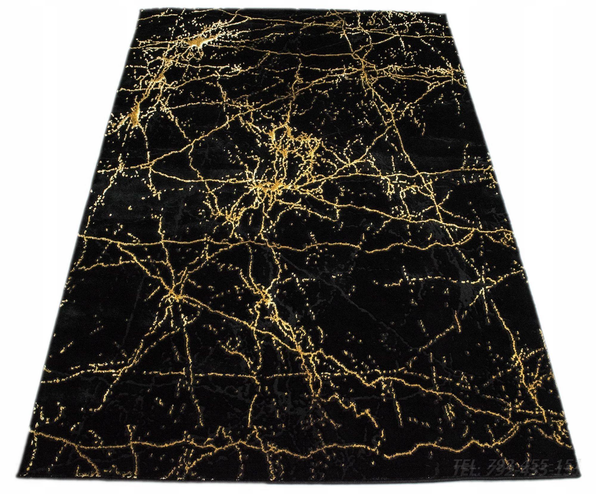 Ковер BLACK GOLDEN MARBLE 180x260 GLAMOUR DELUXE
