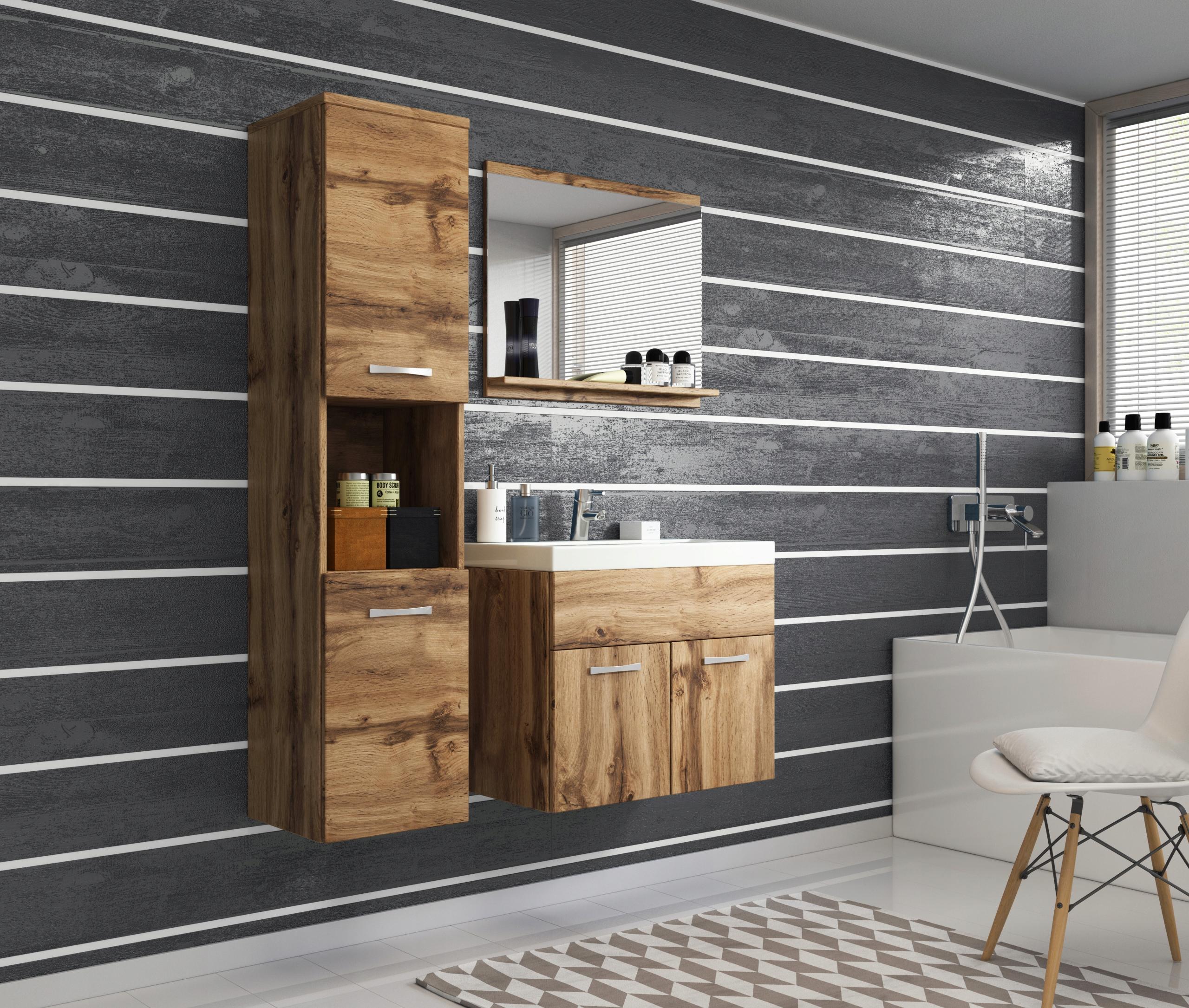 Meble łazienkowe MILANO, szafka, lustro, umywalka