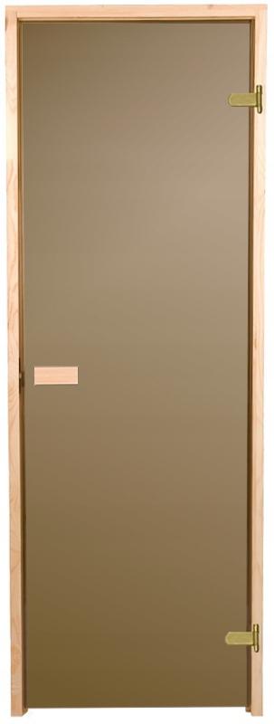 Sauna dvere 7x19 hnedá sauna borovica