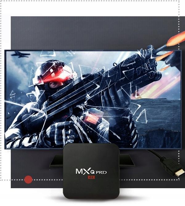 SMART TV BOX MXQ PRO+ TV-BOKS WIFI HDMI 1/8 ANDROID Modell PRO + H.265