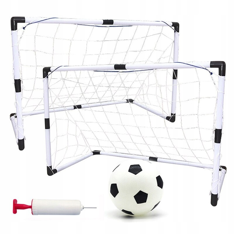 Bramki do Piłki Nożnej - Zestaw z Akcesoriami 2w1