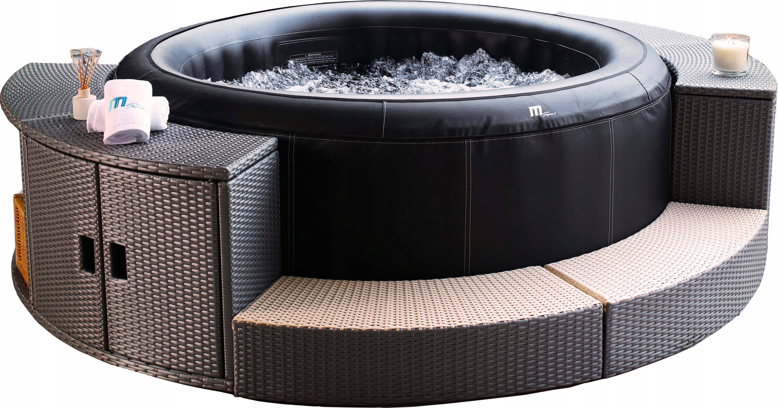 OBUDOWA SPA MEBLE DO JACUZZI DMUCHANE SPA RATTAN