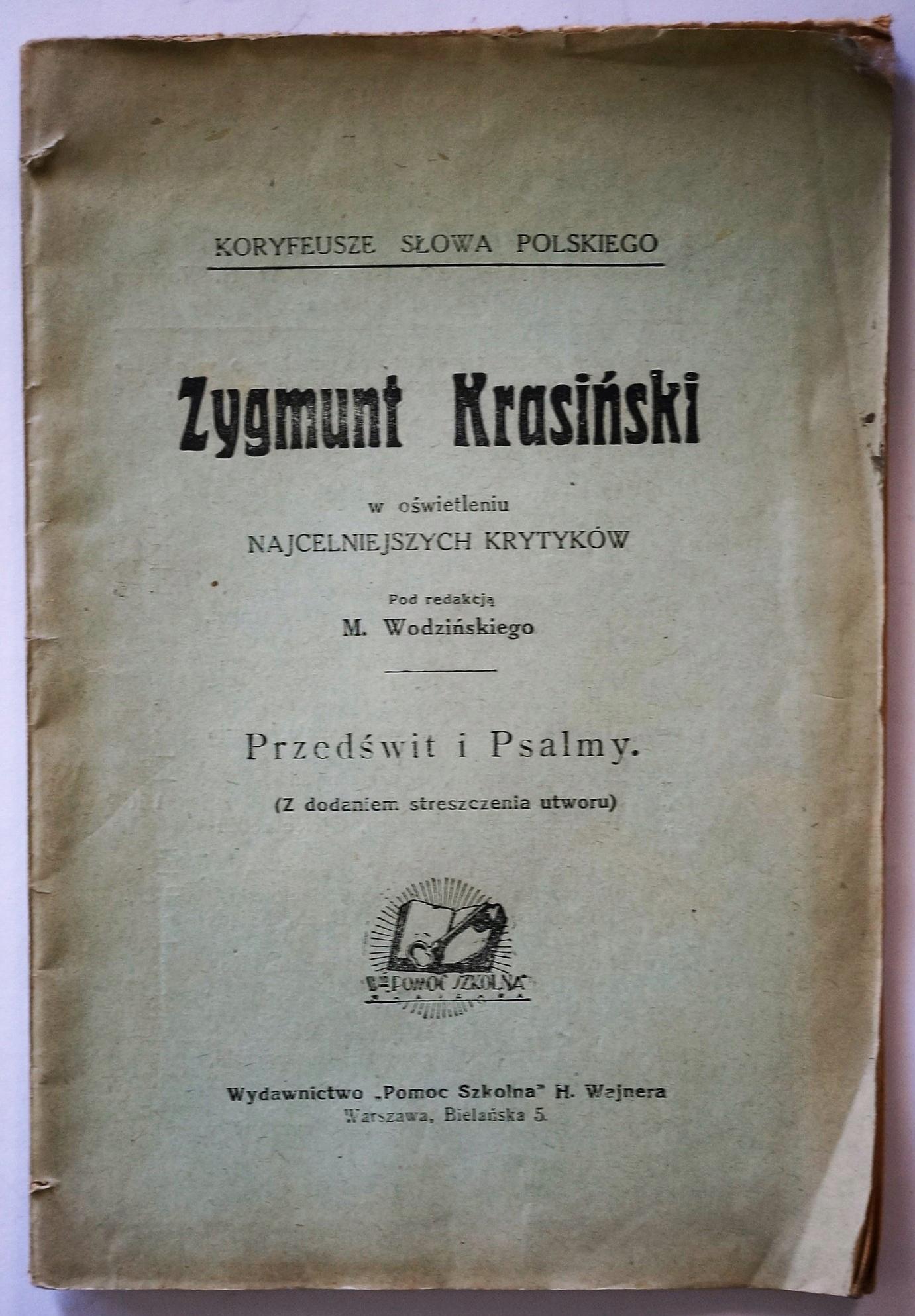 Z. Krasiński w oświetleniu krytyków N