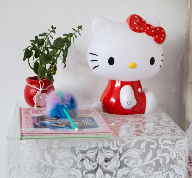 LAMPKA NOCNA DLA DZIECI HELLO KITTY ŚWIATŁO LED Kolor dominujący biały