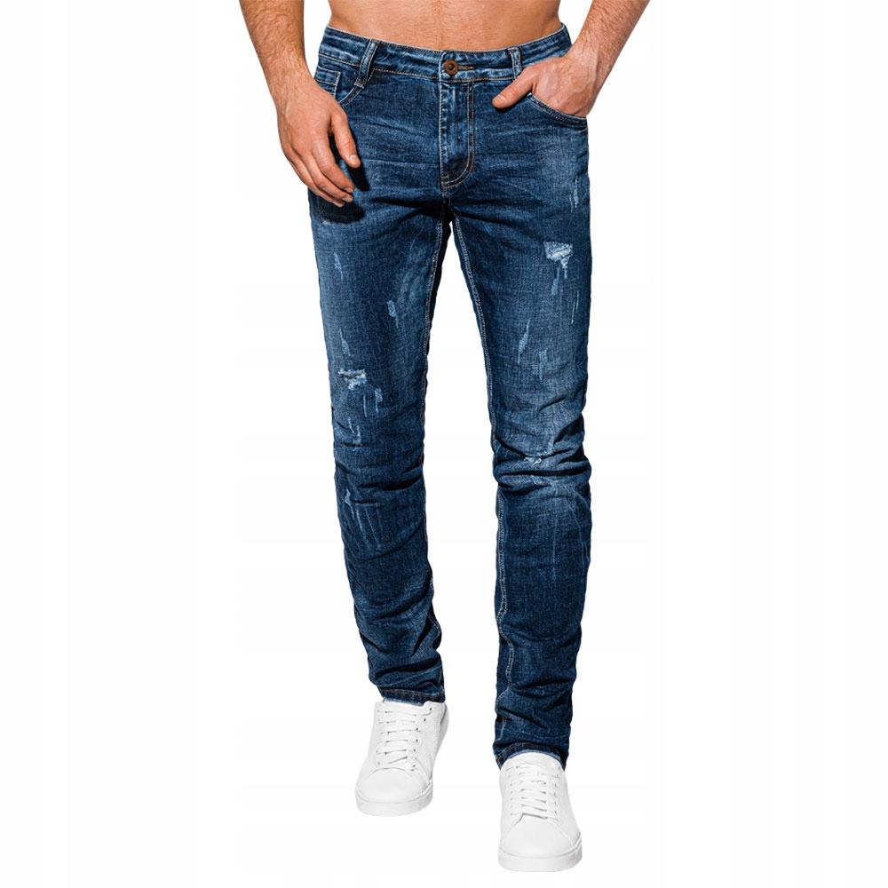 Spodnie męskie jeansowe 986P ciemnoniebieskie 35