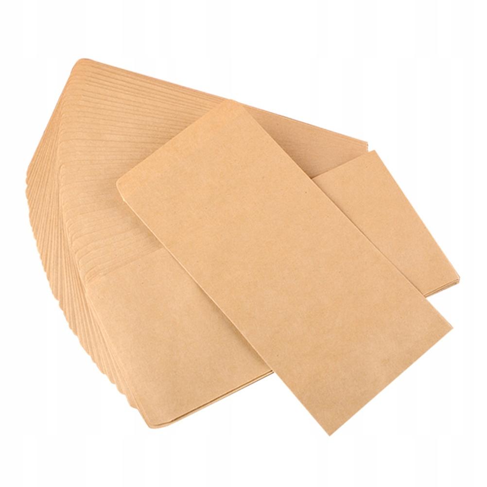 100ks Prázdne obálky Obálky Retro Kraft Paper