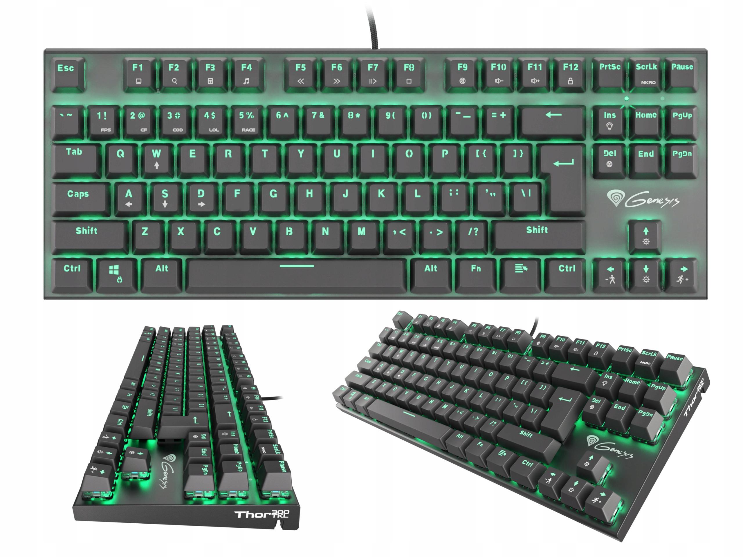 Купить Механическая клавиатура Genesis Thor 300 TKL Blue на Otpravka - цены и фото - доставка из Польши и стран Европы в Украину.