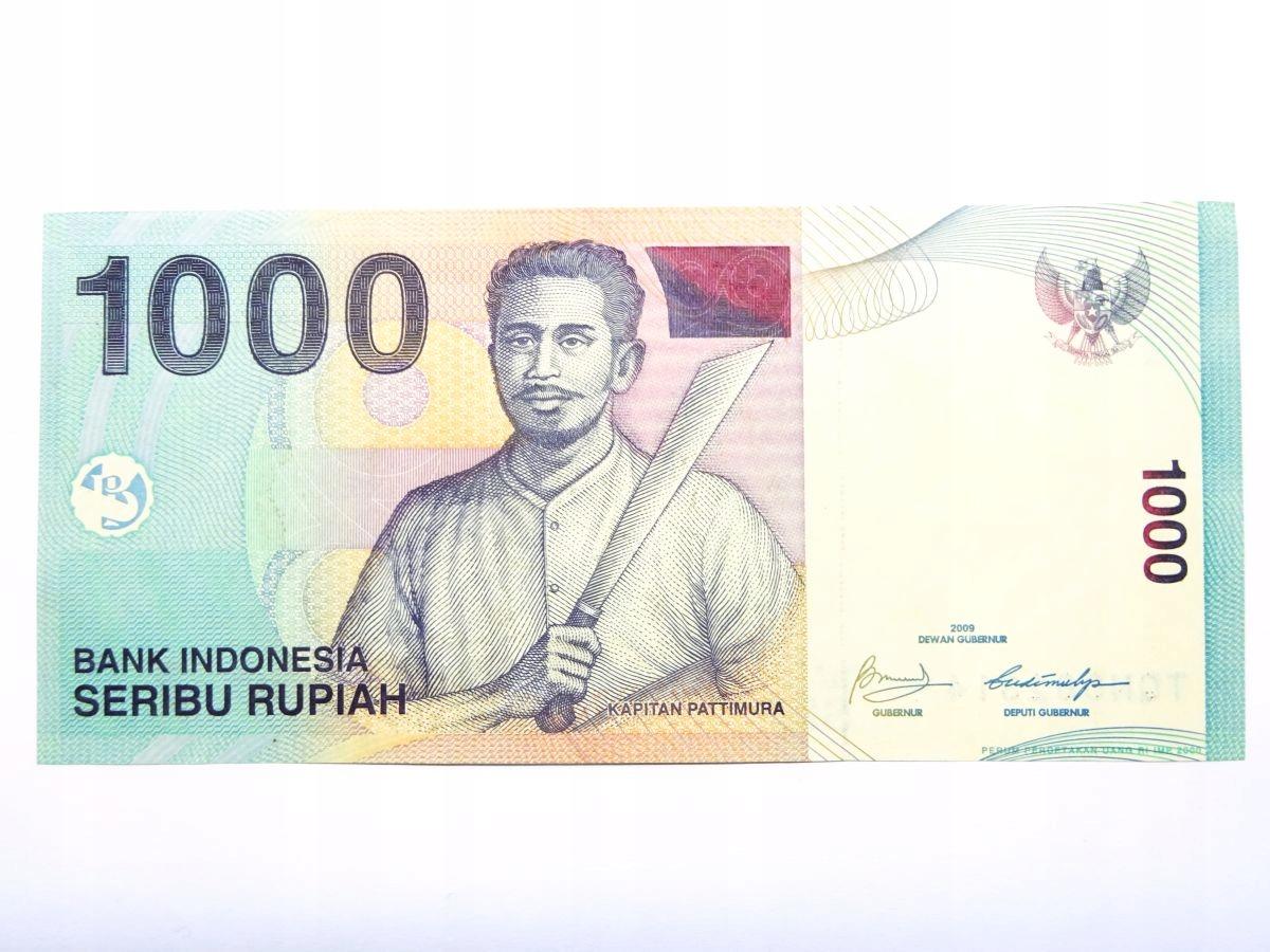 1000 Rupiah 2009 Indonezja - banknot UNC
