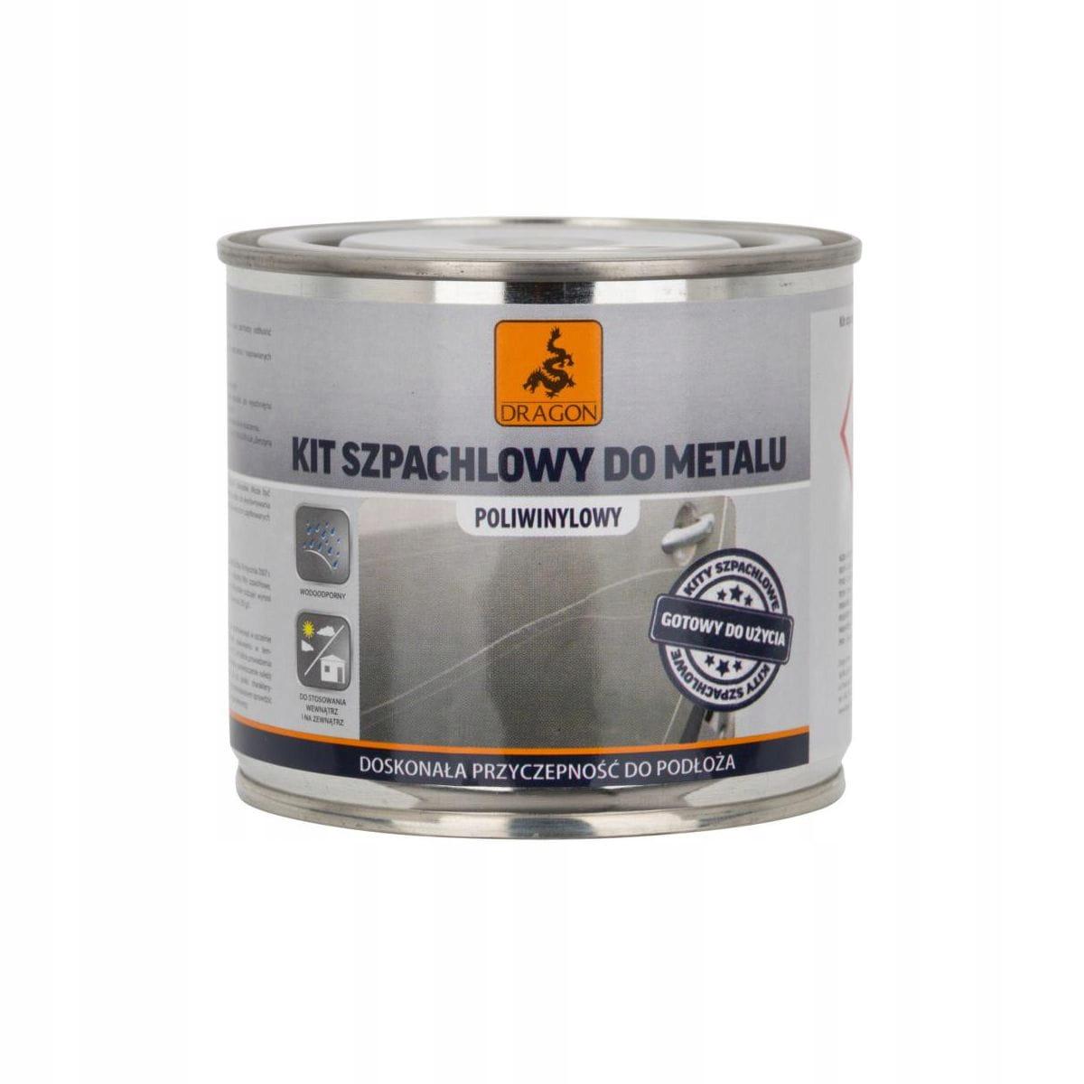 Шпатлевка по металлу 0,25 кг ДРАКОН