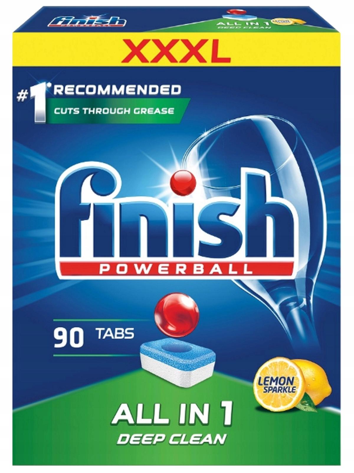 Dokončiť All-in-1 Citrón Tablety pre Umývačky riadu 90szt