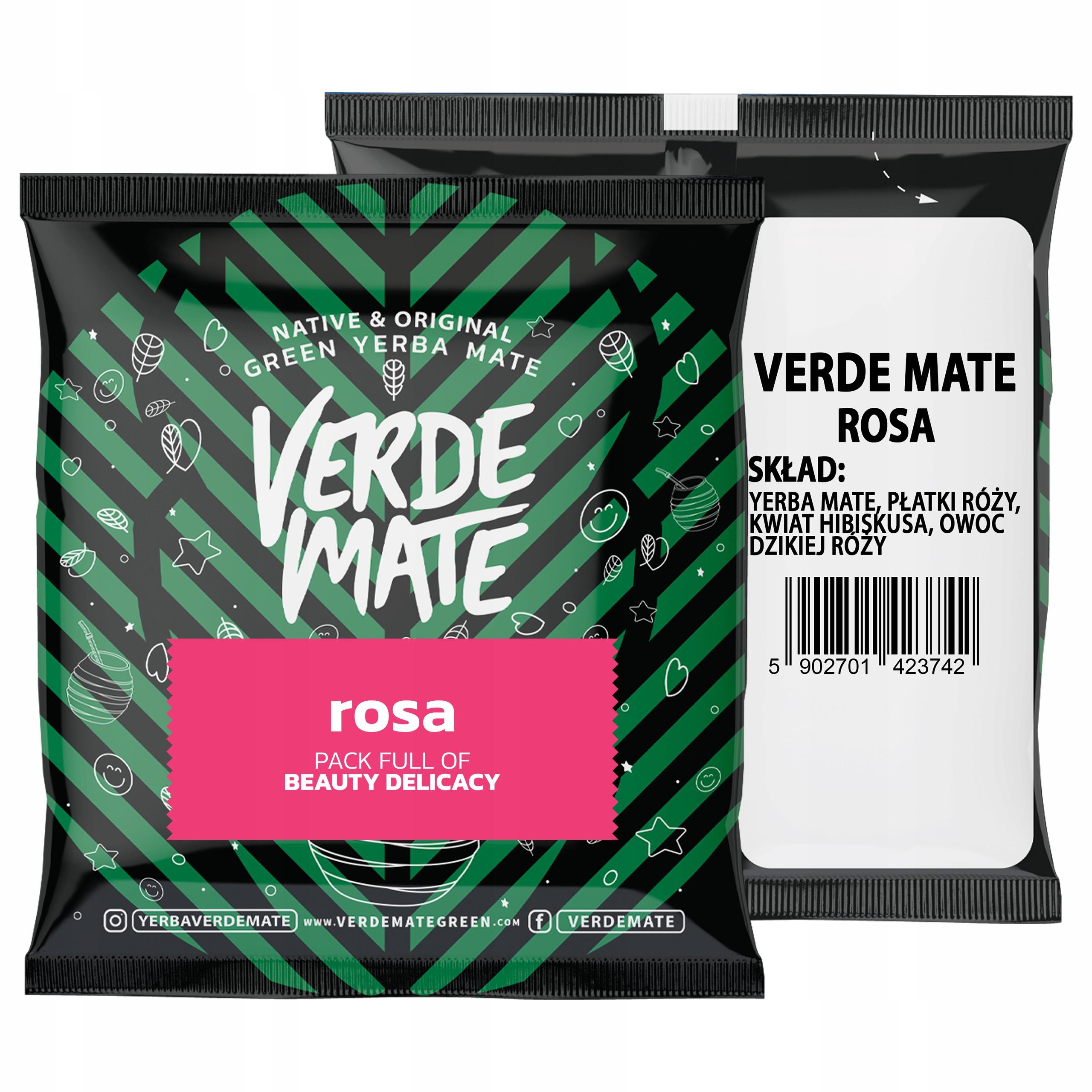 Yerba VERDE MATE ROSA Różana 50g