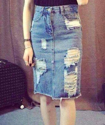 Sukne dámske-LUX Fashion Jeans - Vintage