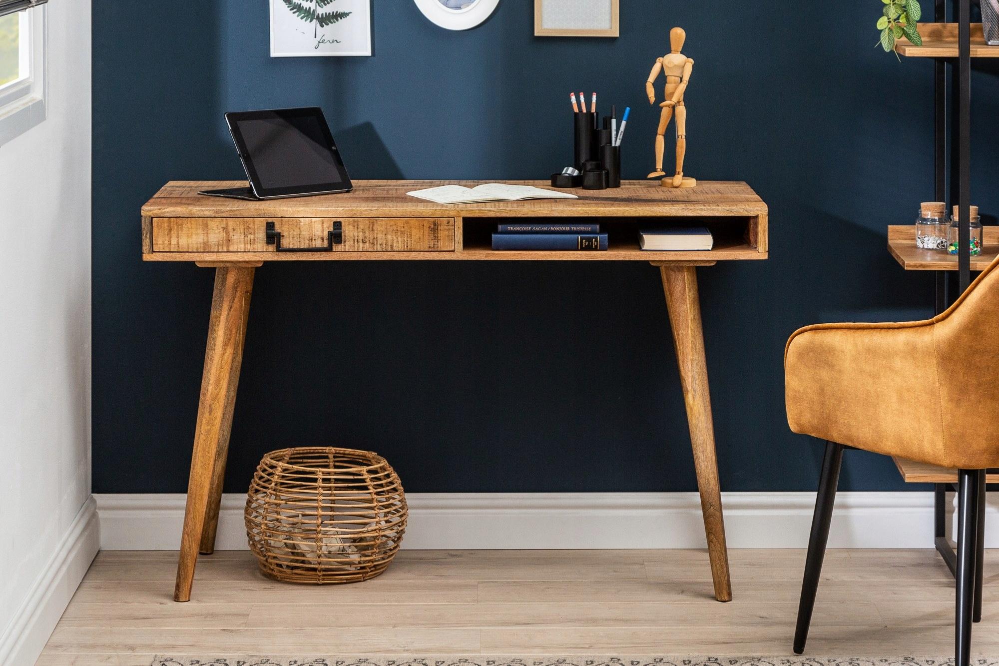 Retro písací stôl 120 cm mango 39959