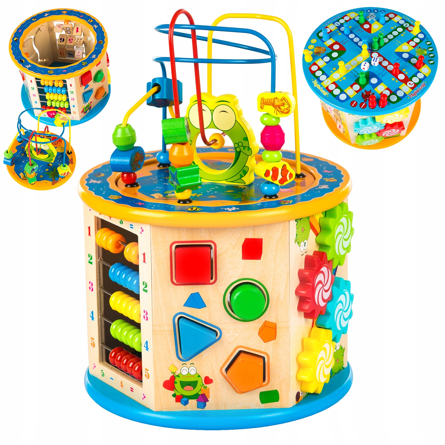 KINDERPLAY WOODEN EDUCATION CUBE 8v1