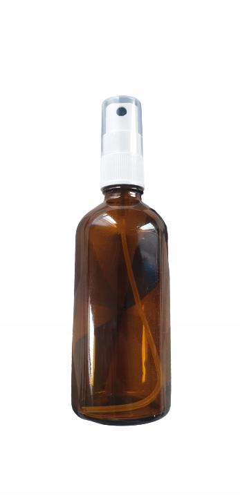 Szklana ciemna butelka 100ml z atomizerem