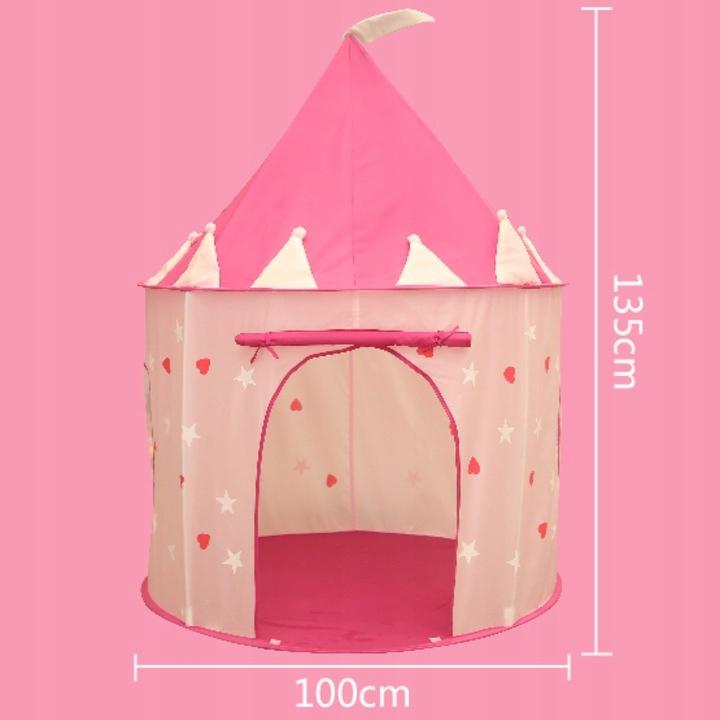Świecący namiot domek zamek z podłogą 135 cm 001R Kod producenta qh-001