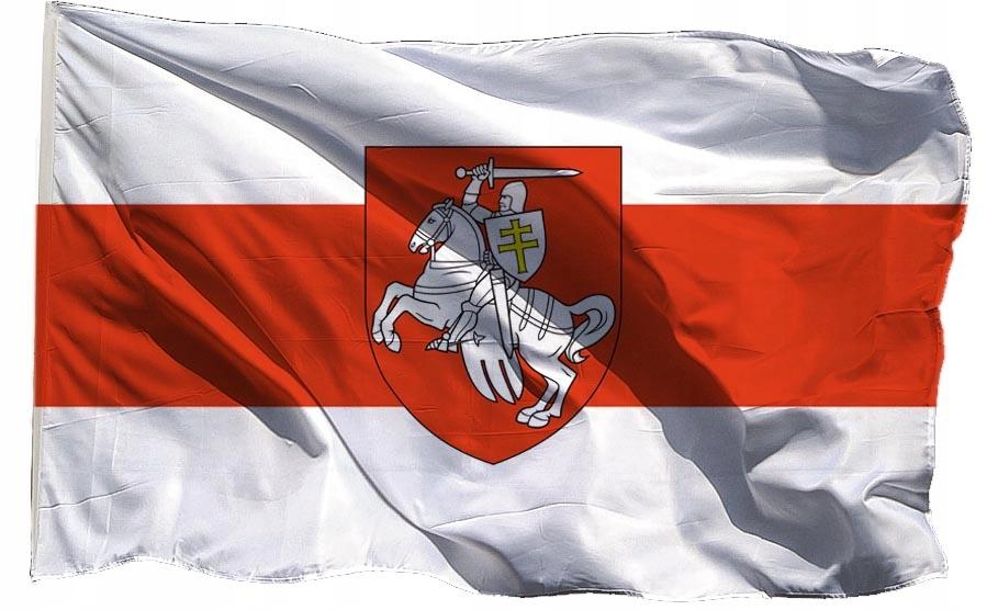 Flaga Białoruś historyczna Opozycja Pogoń 120x75cm