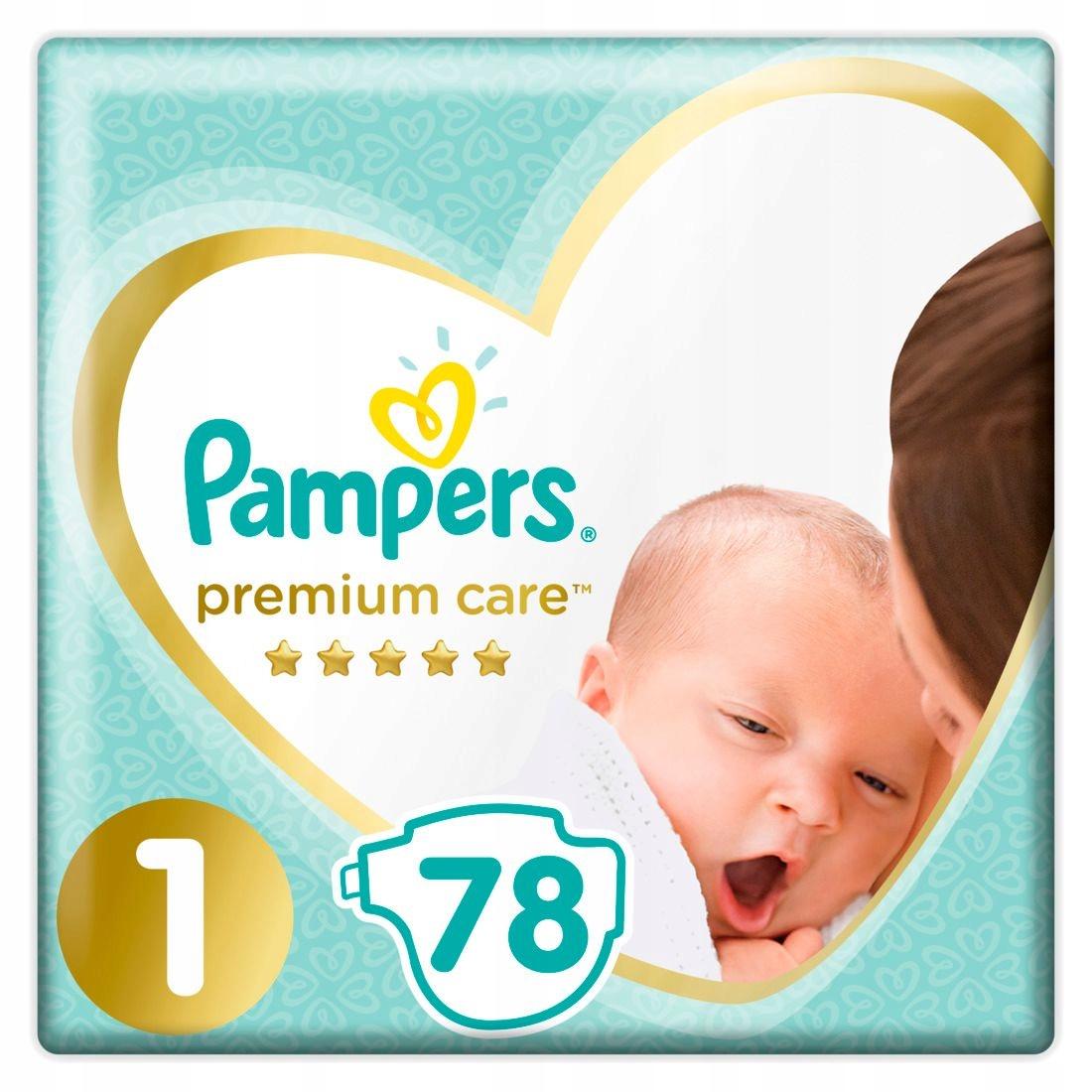 Pampers premium care, размер 1, 78 подгузники