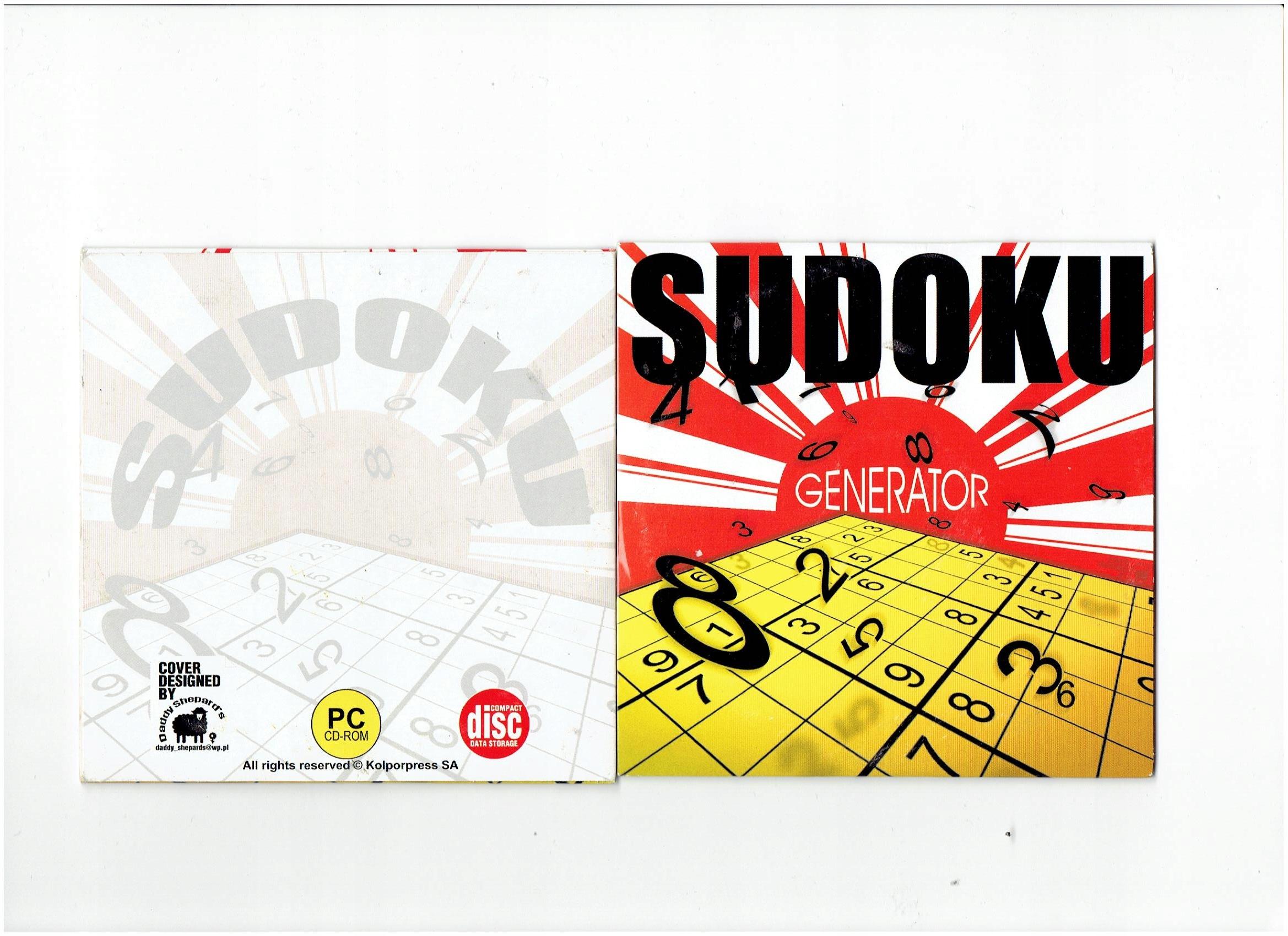 Generator Sudoku łamigłówki Zadania Do Rozwiązania 16 Zł Stan Nowy 9392477707 Allegro Pl