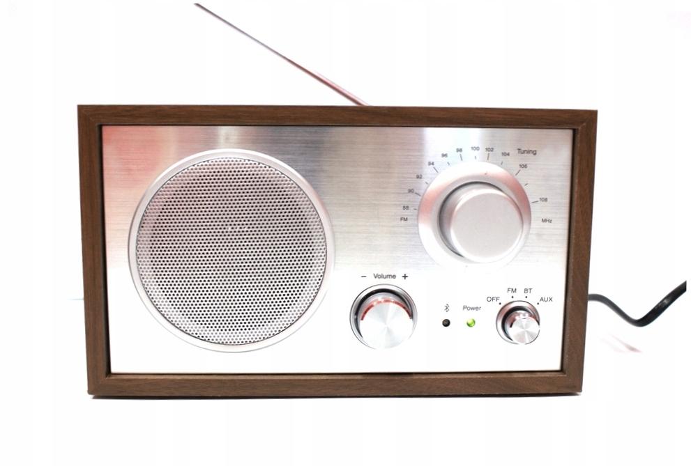 Rádio pre kuchyňa drevené Retro FM, Bluetooth, AUX