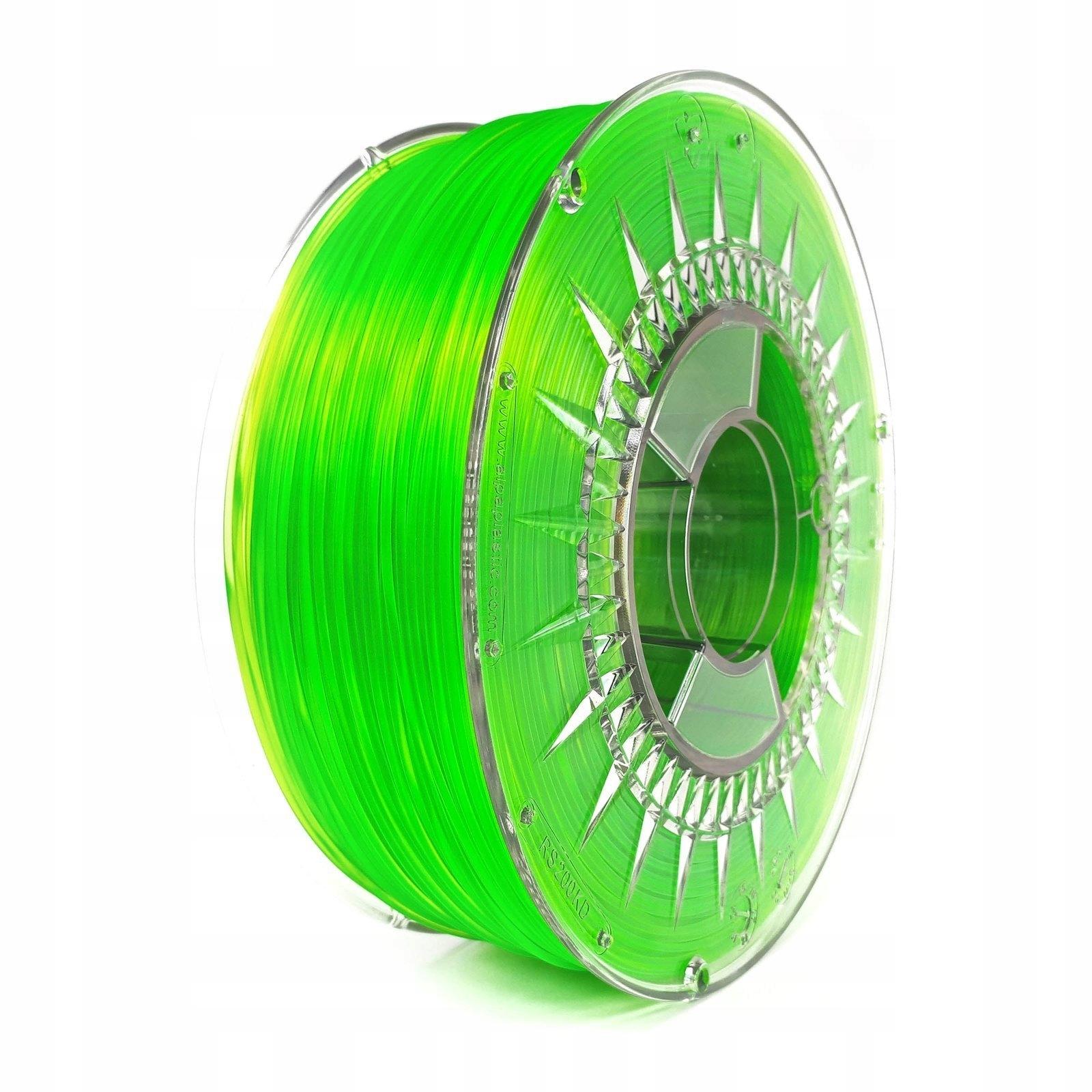 Fillament ABS + 1,75mm Devildesign Zelený transparentný
