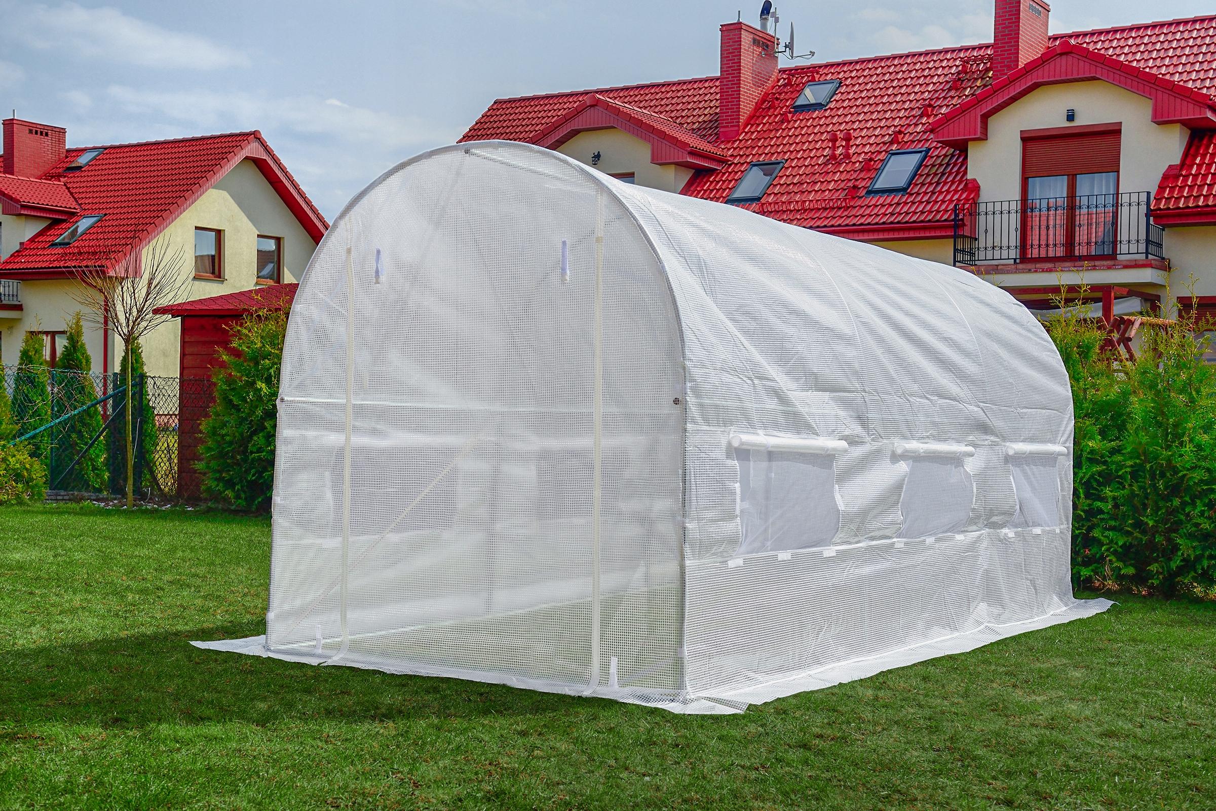 FÓLOVÝ TUNEL 6m2 ZÁHRADNÝ SKLENÍK 3x2m UV-4 dĺžka 300 cm