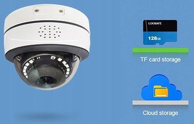 MONITORING KAMERA ZEWNĘTRZNA IP WiFi 5Mpx HD TUYA Cechy dodatkowe alarm dźwiękowy alarm świetlny łączność z wifi