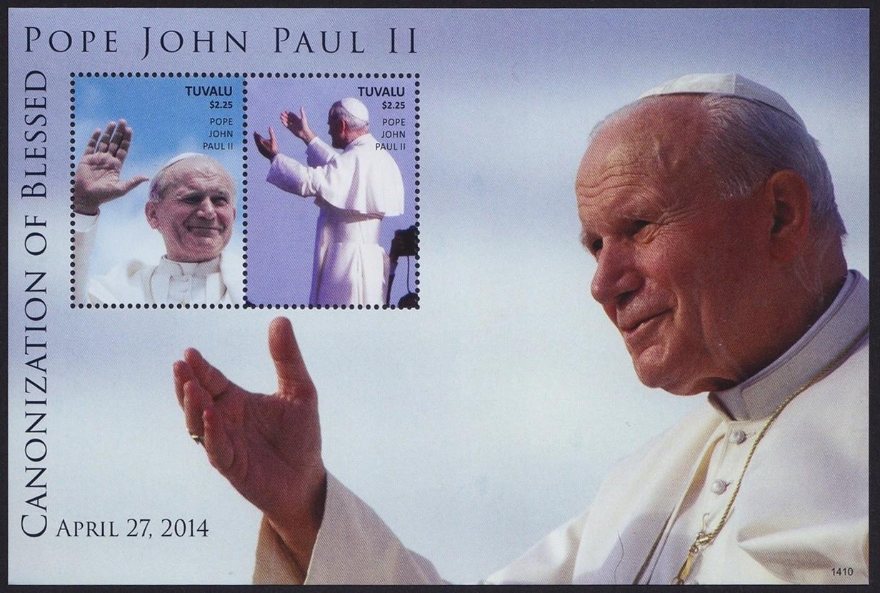 Тувалу 2014 Mi BL 219 ** Папа Иоанн Павел II