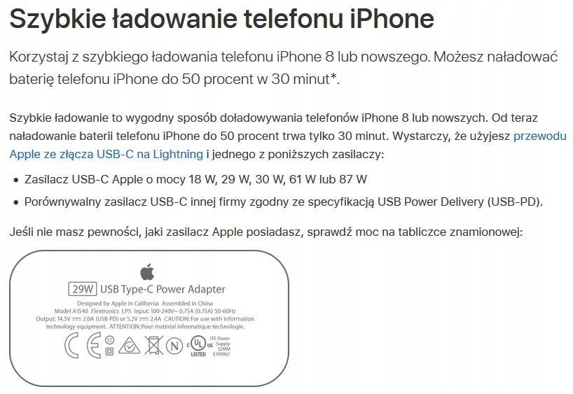 Купить Ładowarka 29W USB-C Apple iPad Pro iPhone X Xs PD на Otpravka - цены и фото - доставка из Польши и стран Европы в Украину.