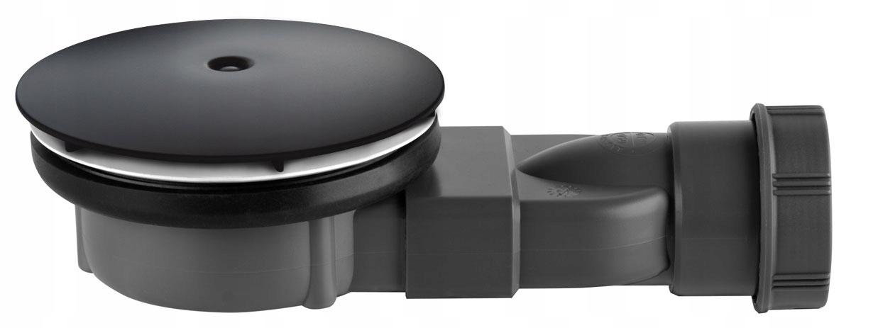 Sifón na sprchu 90 R400 SLIM Čierny nízky RADAWAY