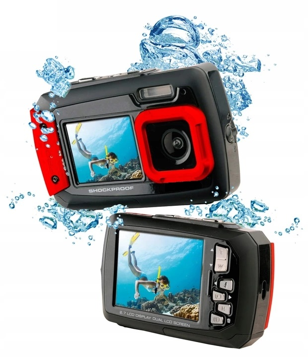 WATERPROOF DIGITAL CAMERA 14MPX 2x LCD + ZADARMO