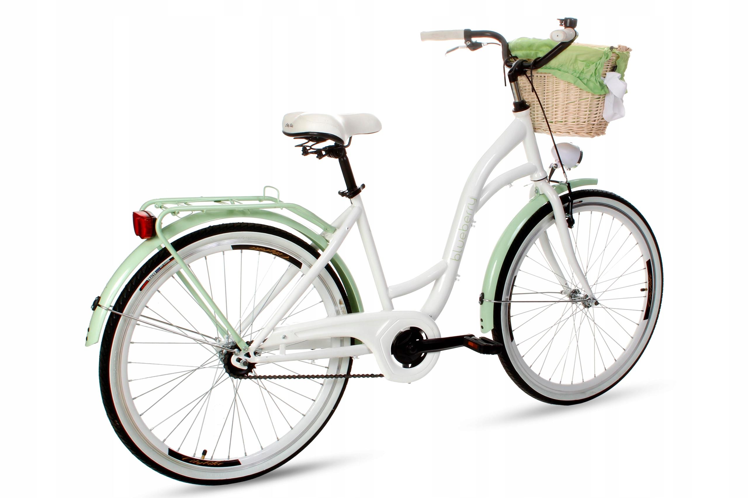 Dámsky mestský bicykel Goetze BLUEBERRY 26 košík!  Torpédové brzdy s brzdou v tvare V.