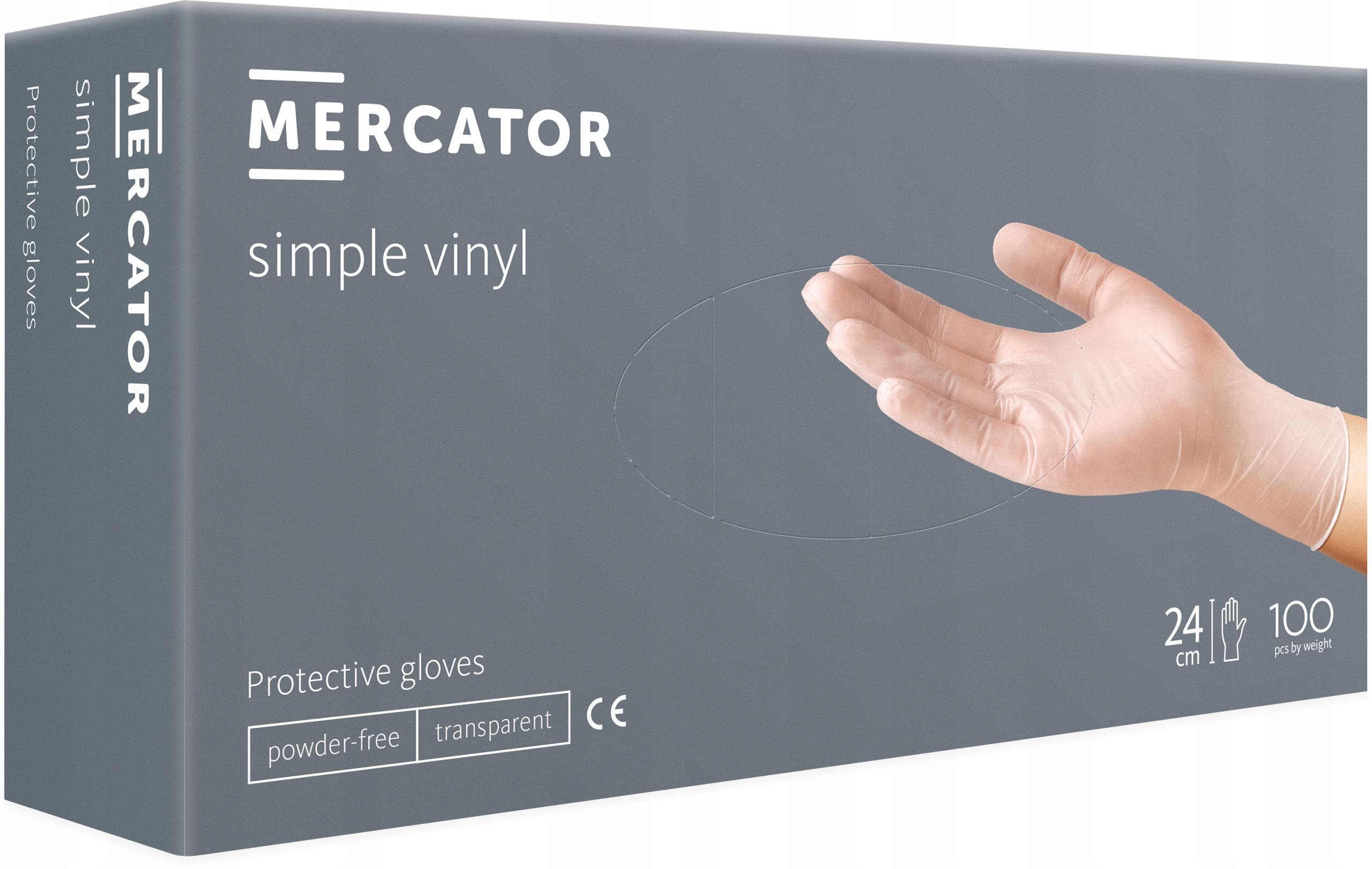 Перчатки виниловые MERCATOR simple PF M 23 VAT