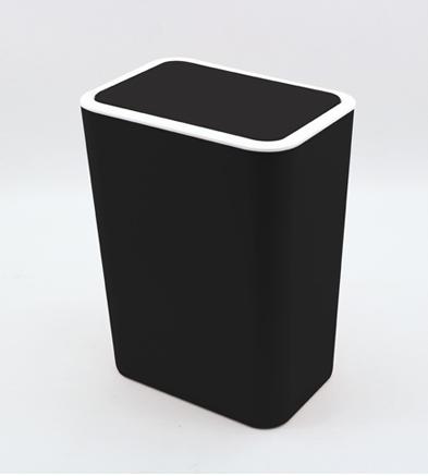 6l výklopný odpadkový kôš / kúpeľňa čierna Mil
