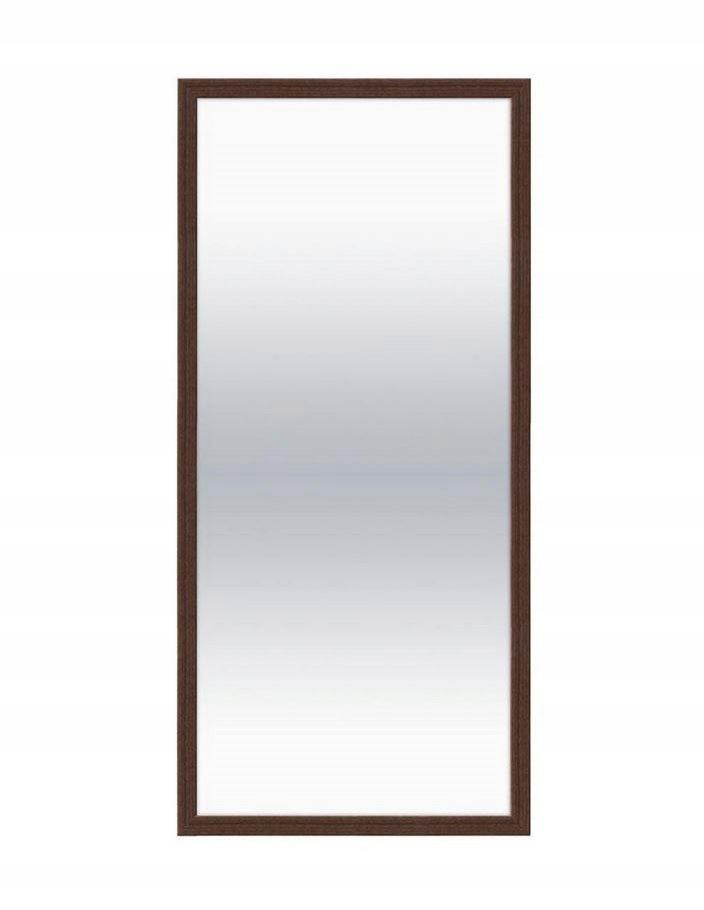Dekoratívne závesné zrkadlo ADVA 124,5x49 cm, orech