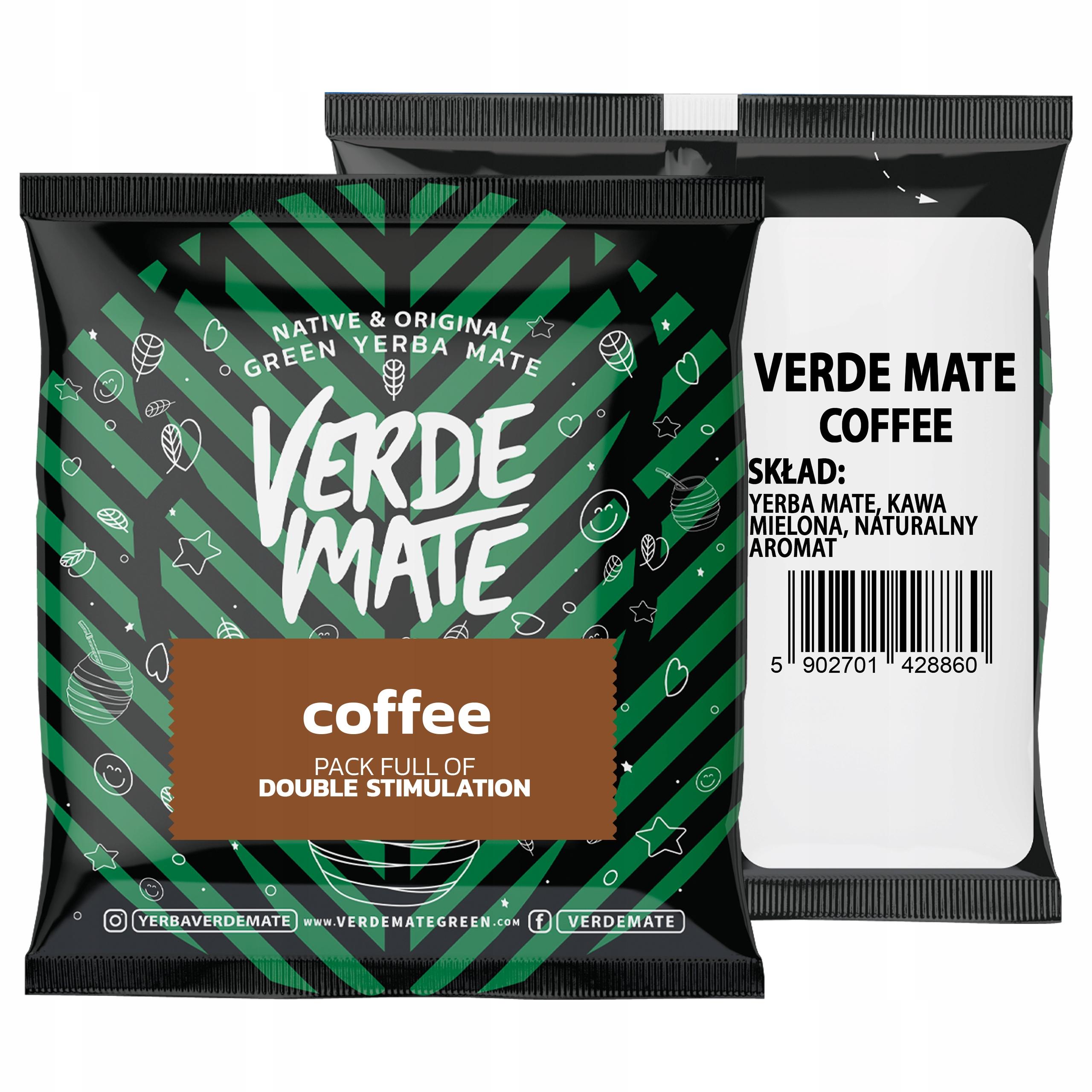 Yerba Verde Mate Green Coffee Tostada Kawowa 50g