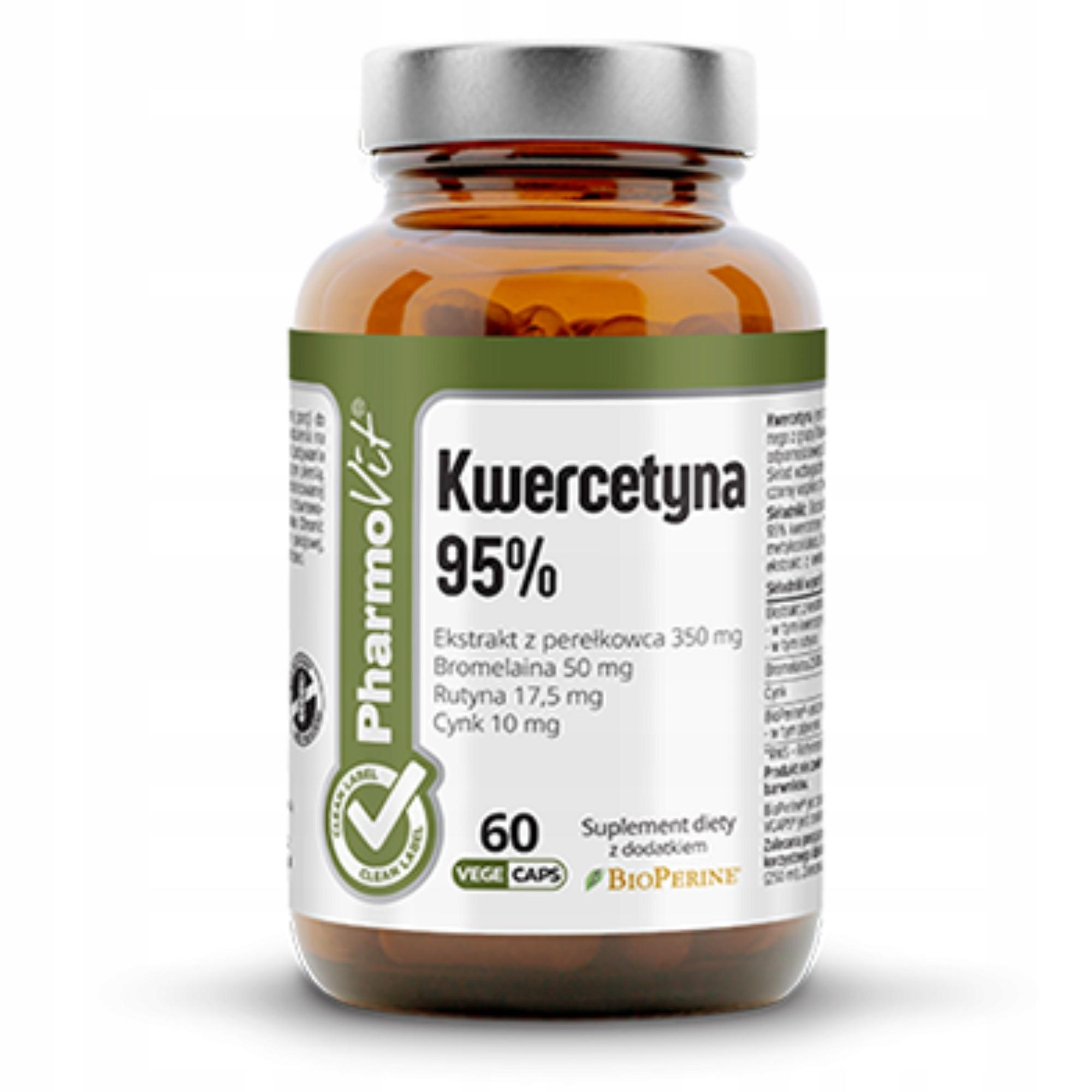 PharmoVit KWERCETYNA ekstrakt 95% BROMELAINA cynk