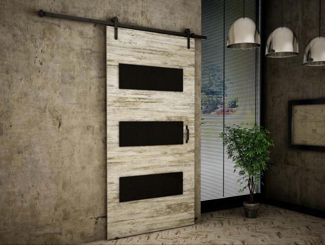 Nástenné posuvné dvere Retro Pine RT02 90 cm