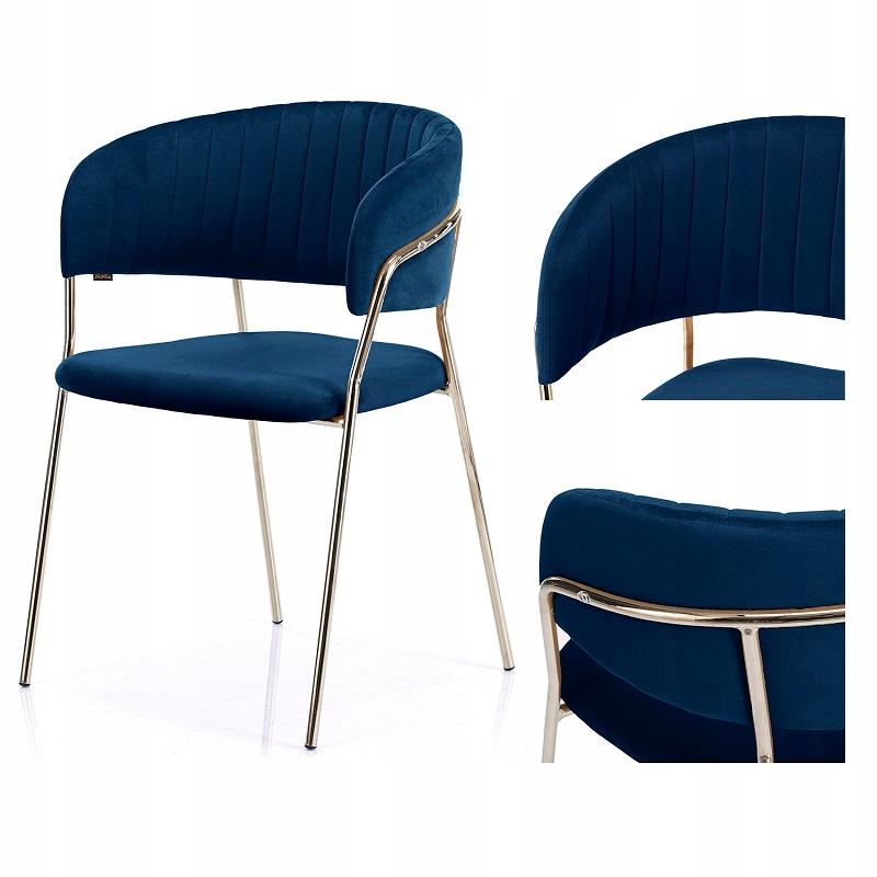 Jedálenská stolička Glamour Velwet Scallop Granat